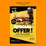 汉堡特价海报