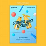 清新橙汁海报