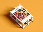 木质框架与海报样机