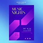 音乐之夜海报