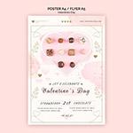 情人节快乐甜品海报