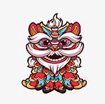 中国舞狮图案