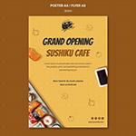 寿司店开业宣传海报