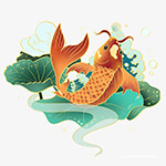 国潮锦鲤元素
