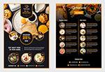 黑色餐饮价目表菜单