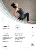 瑜伽班招生宣传单