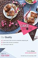 甜品蛋糕店宣传单