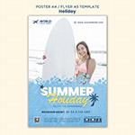 夏日度假日宣传单