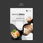 中式餐厅美食宣传单