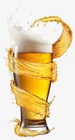 啤酒飞溅酒花