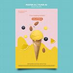 冰淇淋宣传单