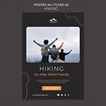 徒步旅行广告传单