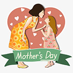 母亲节妈妈和女儿