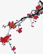 古典手绘梅花