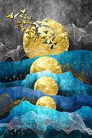 金箔背景墙装饰画