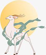国潮九色鹿图案