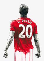 手绘插画足球运动员