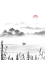 中国风古典水墨山水