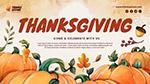 感恩节广告横幅模板