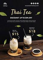 珍珠奶茶广告海报
