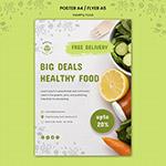 健康果蔬海报