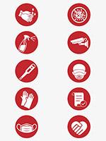 餐饮消毒图标
