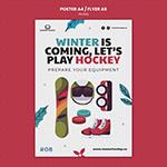 冬季滑雪运动宣传海报