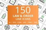 法律与秩序线图标