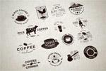 咖啡主题徽标