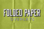 折痕叠纸素材