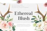 水彩花卉字母
