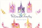 教堂水彩画