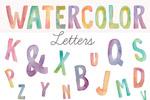 水彩英文字母