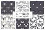 蝴蝶图案无缝纹理