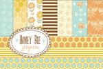 蜜蜂主题无缝纹理