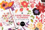 手绘艺术花卉