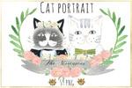 水彩可爱猫猫插画