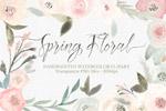 春天花卉水彩