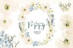 水彩罂粟花环