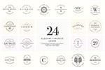 24款优雅字体标志