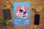 时尚瑜伽健身海报