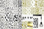 水滴抽象装饰图案