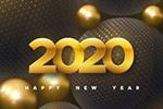 抽象金色新年�底�