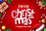 圣诞节与新年海报