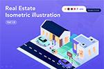 地产等距UI插画