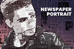 报纸肖像PS动作