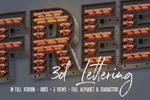 3D蒸汽朋克字母