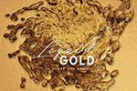 黄金液体抽象形状