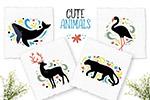 手绘动物装饰插画