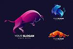 多彩动物标志